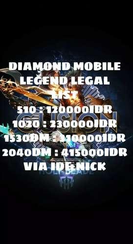 Diamond mobile legend legal murah via ID&NICK