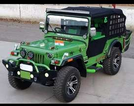 Modified green new jeep