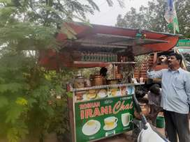 Tea point stall with  required materials for sale