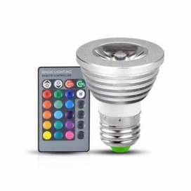 Lampu Bohlam LED RGB with Remote Control Warna Warni Kamar Tidur