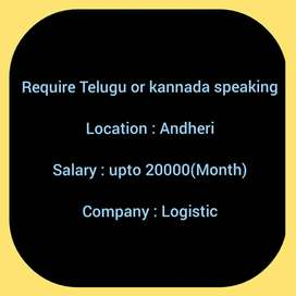 Require Kannada or Telugu Speaking