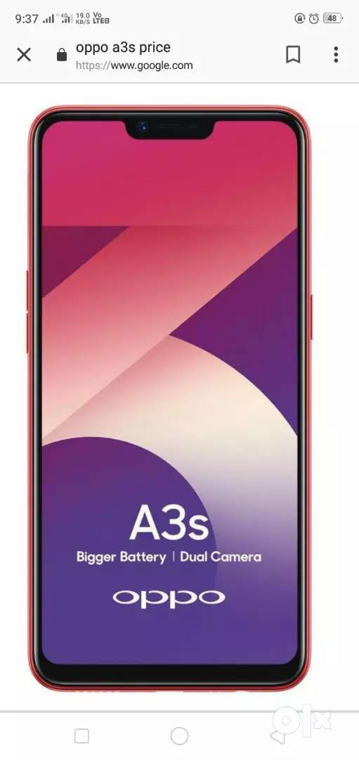 Oppo A3 s  good condition 0