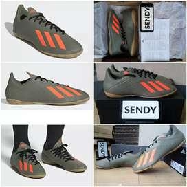 Adidas X 19.4 IN EF8373 Green Orange Sepatu Futsal Original