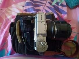 Fujifilm XA10 / X-A10 + Lensa Yongnuo 35mm F1:2 Lengkap Full set