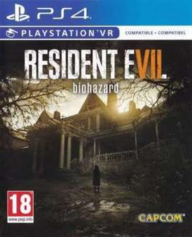 resident evil biohazard ps4 game disc