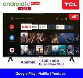 "Promo !! Smart TV LED Android TCL 40""  FHD Garansi resmi 3 tahun"