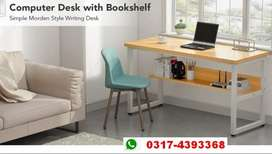 Simple Workstation Household Desk with Matle Frame