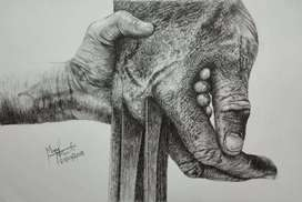 Realistic and creative art work