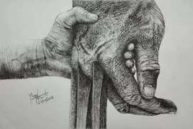 Realistic and creative art work