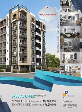 Single bed and double bed Residential apartments
