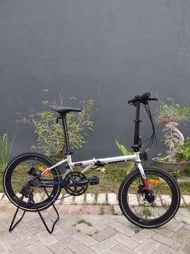 Sepeda lipat Seli Element Nicks Silver 22 Inci Baru Murah