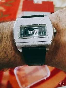 Lanco swiss made mechanical jump hour rare watch omega rolex oris tag