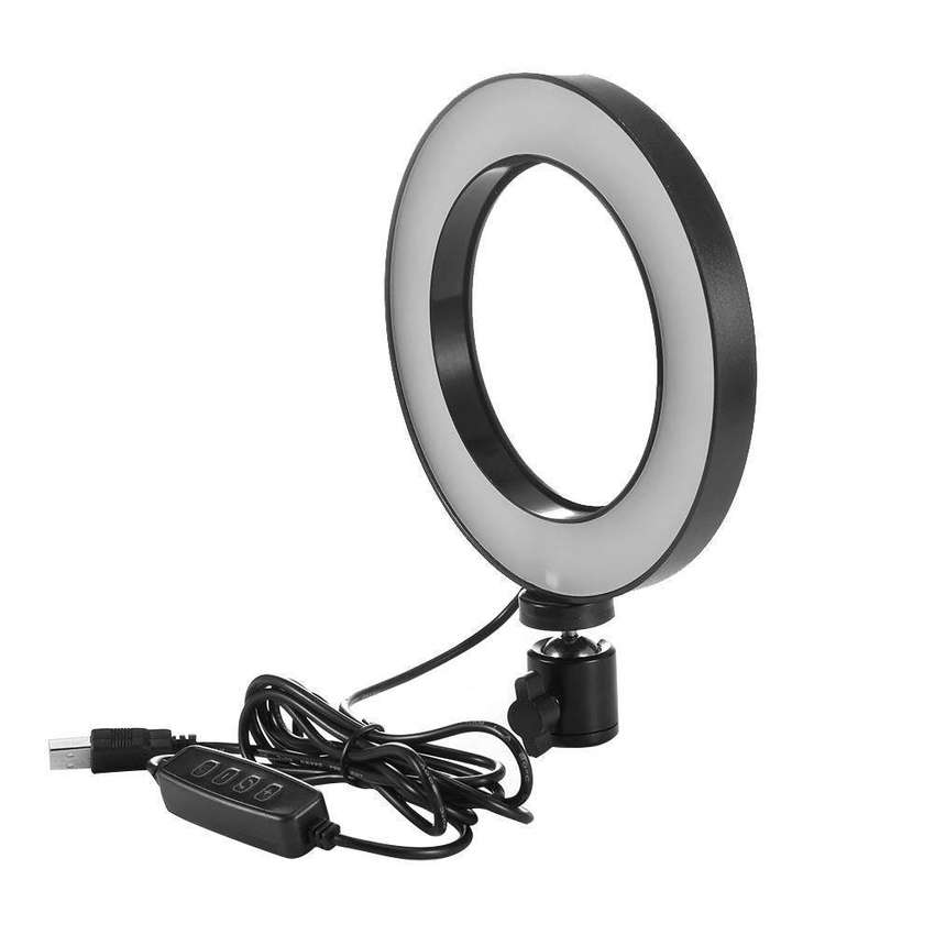 Led Selfie Ring Light with Stand, Big Led Camera Light with Cool Warm 0