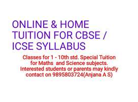 Home/online tuition for cbse / icse 3-10