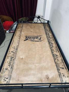 Single Bed and Spring Mattress