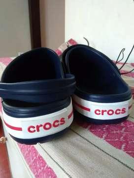 Crocks Unisex Crocband Navy Clogs and Mules