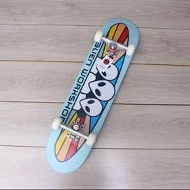 Skateboard fullset blue flag series