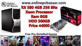 Gaming PC workstation with 2020 game free stock available now