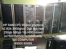 Hp AMD x2 B26 3000ghzs(i5 speed) Redon graphics 2gb 4gb 250gb 500gbmix