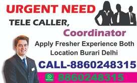 Coordinator Job in Burari Delhi Calling Job in Burari Delhi call Now