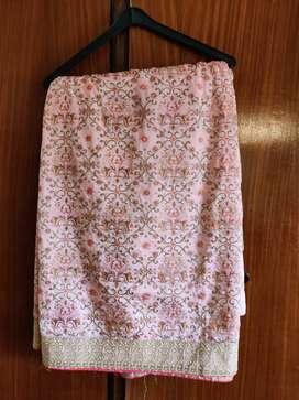 Light pink embroidery saree