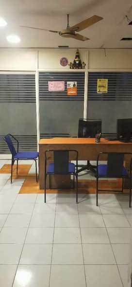Private cabin+ 11 workstation office space for rent No deposit