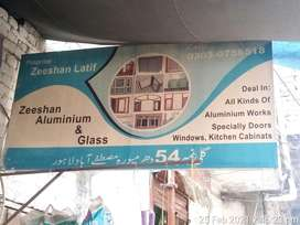 Zeeshan Aluminium & Glass Works Giving Services In Lahore Dharampura
