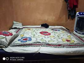Iron wood double bed for urgent sell