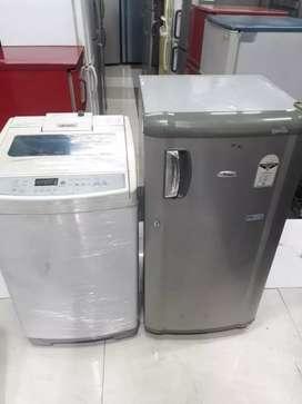 Combo Dhamaka offer of single door fridge n fully automatic W/M