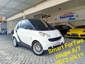 Smart ForTwo coupe A/T 2012 nik11  White on Black  Odometer 12rb km