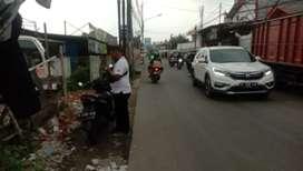Tanah dijual LT 913m2 bonus 9 kios & 3 ruko jalan Raya hankam pondok