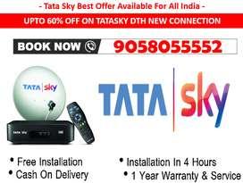 #100% Diwali Offer Tata sky - Tatasky, Airtel, Dishtv New SD/HD Box !!