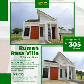 Cluster Syariah Rasa Villa Ready Unit Asri View Gunung dkt Kampus IPB
