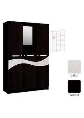Lemari Baju Kaca Masuk Astrobox Vela 3 Pintu 1/2T