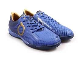 Sepatu Futsal ORI Ortus Forte Aegis Vortex Blue Deep Blue Gold
