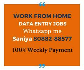 Data entry jobs with Weekly Payment
