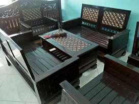 kursi tamu bahan kayu jati