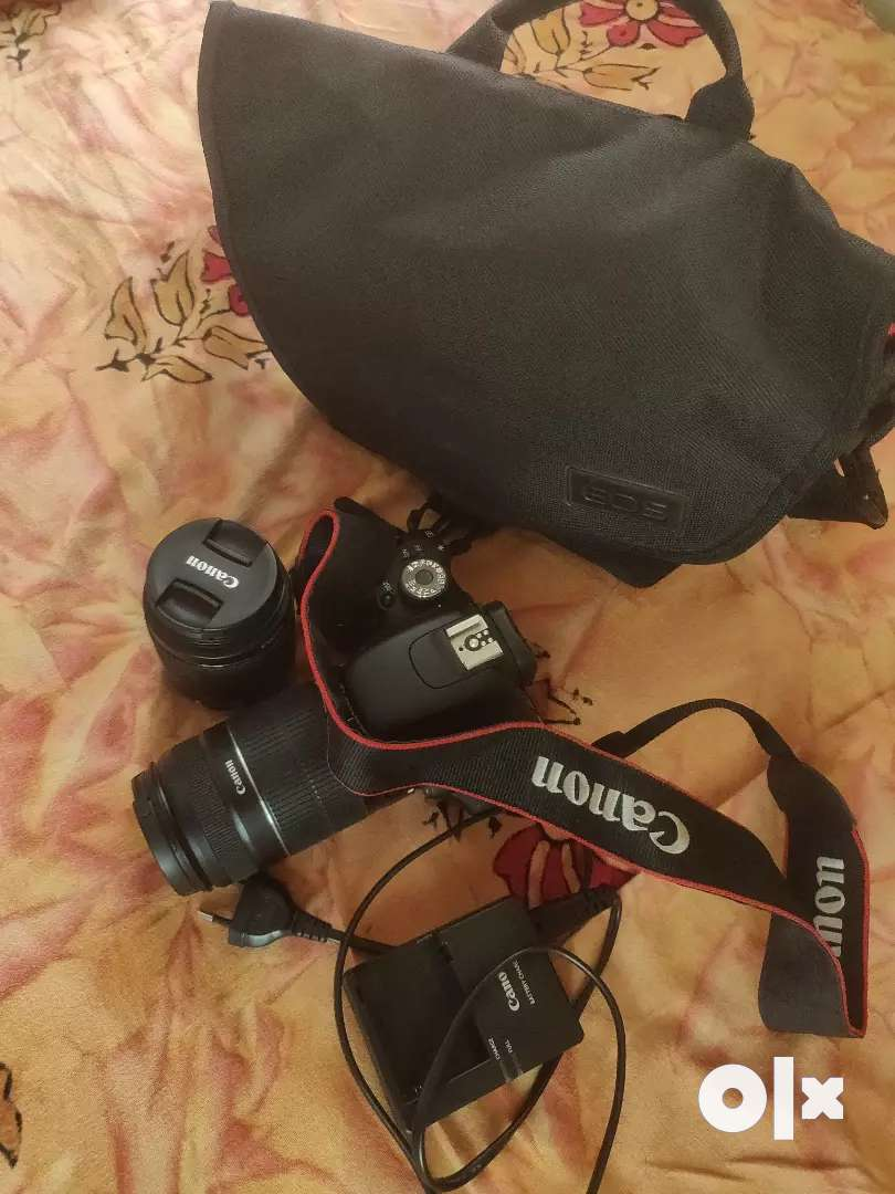 Canon 600d rarely used with 2 lens & 8GB memory card 0