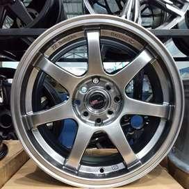 VELg mobil racing ring16 HSRwheel dobel pcd 8×100-114,3 cicilan 0%