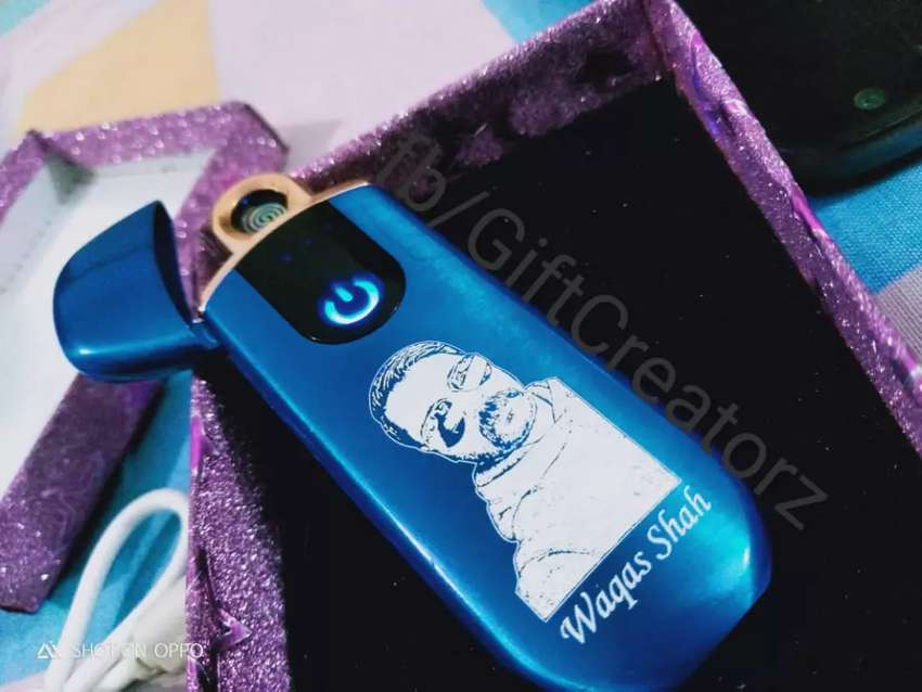 ELECTRIC LIGHTER AUTO SENSOR CHARGABLE 3 WITH PIC & YOUR NAME 0