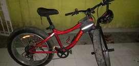 Sepeda FatBike bonus stang dan tas sepeda belakang