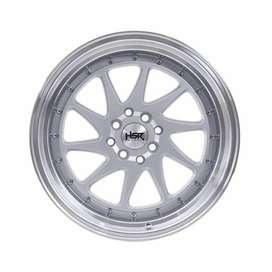 Jual velg HSR Ozora R17x7,5/8,5 H4x100/114 Silver machine face
