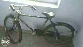 Blue colour new cycle with carrier and busket