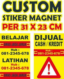 Magnet Stiker Mobil A4 24 cm x 31 cm Tebal 0.5 mm Custom size