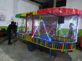 mandi bola gerobak odong kereta mini coaster full lampu 11