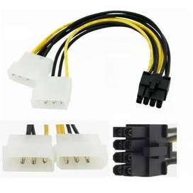 Kabel Power VGA 4 pin Molex to 8 pin PCIE Konverter