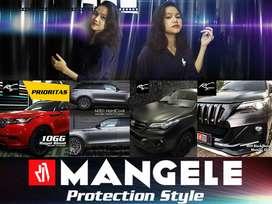 ABU Hitam Merah Stiker Mobil Premium Wrapping Sticker Mangele Detail