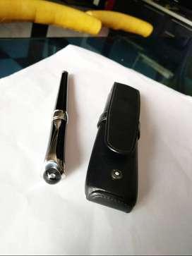 Pulpen Montblanc etoile black w/platinum trim n diamond on cap Ori