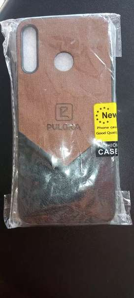 Infinix hot 8 back cover pure leather