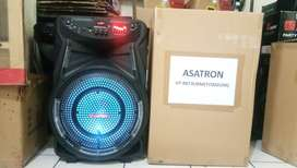 Speaker Aktif Portable 15 Inch Asatron HT 8873 Titanium